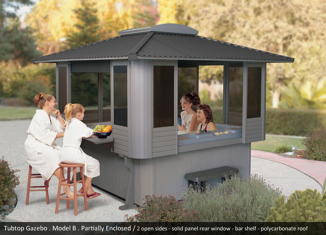 Tubtop gazebos north shore pool spa for Cal spa gazebo